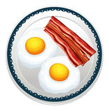 Egg and becon Royalty Free Stock Photo