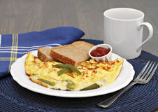 Egg, bell pepper and cheese omelet. Stock Image