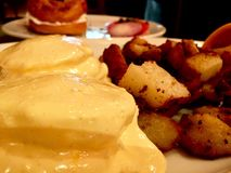 Egg Benedict and Potatoes Royalty Free Stock Photography