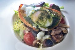 Egg Benedict Salad Stock Photos