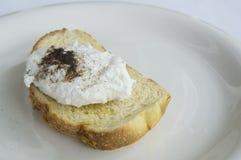 Egg benedict toast english breakfast plate concept. Egg benedict toast english breakfast plate Stock Photo