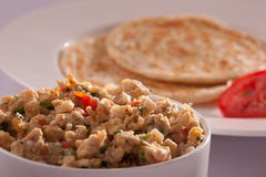 Egg bhurji with Paratha from India Royalty Free Stock Photography