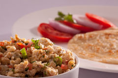Egg bhurji with Paratha from India Royalty Free Stock Image