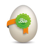 Egg Bio Label Stock Photo