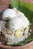 Egg Biryani - An Indian egg based rice dish Stock Photo