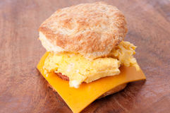 Egg and biscuit sandwich Royalty Free Stock Image