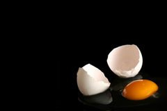 Egg on black stock image