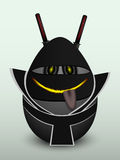 Egg black ninja mask Stock Photos