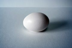 Egg on blue background Royalty Free Stock Photography