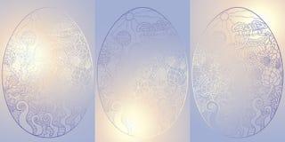 Egg1blue-lutningkort Royaltyfri Foto