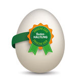 Egg Bodenhaltung Label Royalty Free Stock Photo