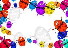 Egg border Stock Images