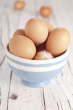 Egg in the bowl Royalty Free Stock Photography