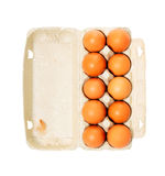 Egg box with eggs Royalty Free Stock Images