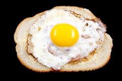 Egg on bread Stock Photos