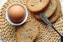 Egg and bread Royalty Free Stock Photos