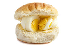 Egg on bread Stock Photos
