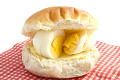Egg on bread Royalty Free Stock Image