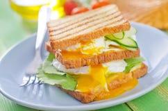 Egg with bread Stock Photos