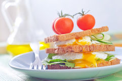 Egg with bread Royalty Free Stock Photos