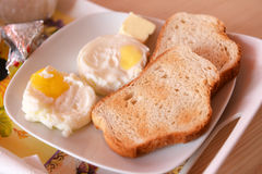 Egg and bread Stock Image