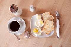Egg and bread Stock Photography