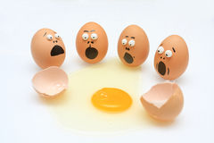 Egg break Royalty Free Stock Photography