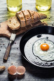 Egg for breakfast in the countryside Royalty Free Stock Photo