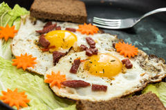 Egg breakfast Stock Images