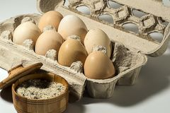 Egg Breakfast. Using eggs and salt, you can cook a good and tasty Breakfast Royalty Free Stock Photo