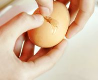 Egg breaking Royalty Free Stock Photography