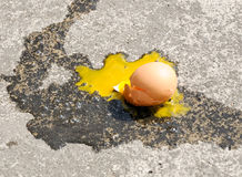 Egg broken Stock Photography