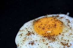 Egg Bulls eye. With Salt and Pepper Royalty Free Stock Image