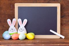 Easter egg banner stock images