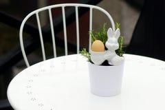 Egg bunny and rosemary 4 royalty free stock photos