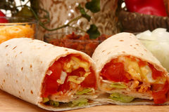 Egg Burrito Stock Photography