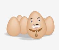 Egg businessman Stock Photo