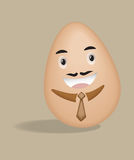 Egg businessman Royalty Free Stock Photography