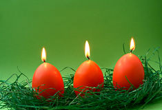 Egg candles Stock Photography