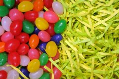 Egg candy on nest. For background uses Stock Photo