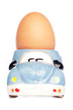 Egg in car egg-cup Stock Image