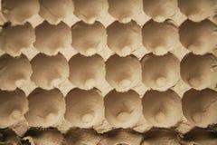 Egg carton. Empty egg carton with rough texture Stock Images