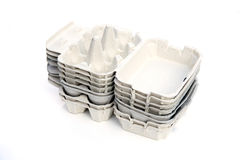 Egg cartons Stock Images