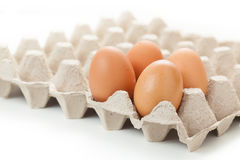 Egg cartons packing Royalty Free Stock Photos