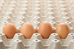 Egg cartons packing Stock Photo