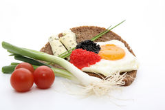 Egg with caviar Stock Images