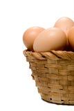 Egg a cesta Foto de Stock Royalty Free