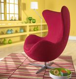Egg chair. The egg chair is a 1950s design classic and a statement piece of furniture Royalty Free Stock Photo