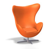 Egg chair. Funky egg chair from the 70s with Clipping Path Stock Images