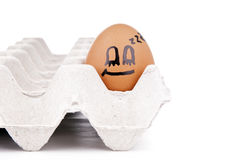 Egg Characters. Eggs with human characteristics  on white as concept Royalty Free Stock Photography